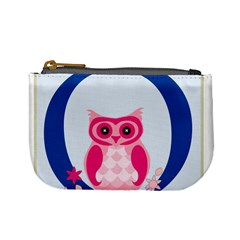Alphabet Letter O With Owl Illustration Ideal For Teaching Kids Mini Coin Purses by Nexatart