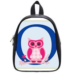 Alphabet Letter O With Owl Illustration Ideal For Teaching Kids School Bags (small)  by Nexatart