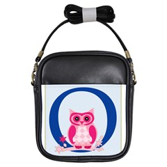 Alphabet Letter O With Owl Illustration Ideal For Teaching Kids Girls Sling Bags by Nexatart