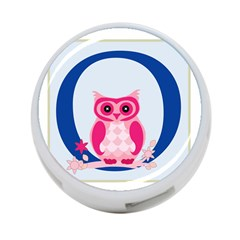Alphabet Letter O With Owl Illustration Ideal For Teaching Kids 4 Port Usb Hub (two Sides)  by Nexatart