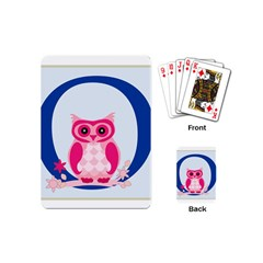 Alphabet Letter O With Owl Illustration Ideal For Teaching Kids Playing Cards (mini)  by Nexatart