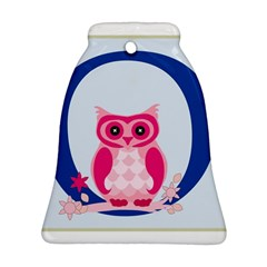 Alphabet Letter O With Owl Illustration Ideal For Teaching Kids Bell Ornament (two Sides)