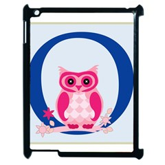 Alphabet Letter O With Owl Illustration Ideal For Teaching Kids Apple Ipad 2 Case (black) by Nexatart