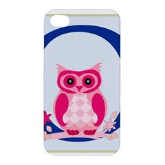 Alphabet Letter O With Owl Illustration Ideal For Teaching Kids Apple Iphone 4/4s Hardshell Case by Nexatart