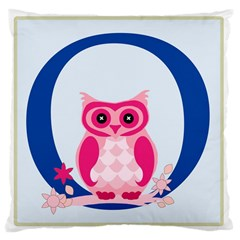 Alphabet Letter O With Owl Illustration Ideal For Teaching Kids Large Cushion Case (two Sides) by Nexatart