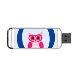 Alphabet Letter O With Owl Illustration Ideal For Teaching Kids Portable Usb Flash (one Side)