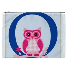 Alphabet Letter O With Owl Illustration Ideal For Teaching Kids Cosmetic Bag (xxl)  by Nexatart