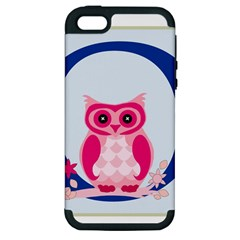 Alphabet Letter O With Owl Illustration Ideal For Teaching Kids Apple Iphone 5 Hardshell Case (pc+silicone) by Nexatart