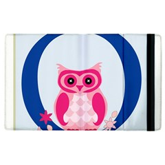 Alphabet Letter O With Owl Illustration Ideal For Teaching Kids Apple Ipad 2 Flip Case by Nexatart