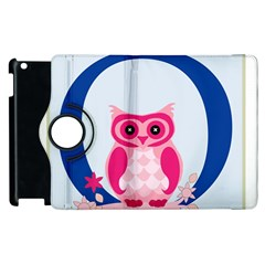 Alphabet Letter O With Owl Illustration Ideal For Teaching Kids Apple Ipad 2 Flip 360 Case by Nexatart