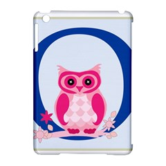 Alphabet Letter O With Owl Illustration Ideal For Teaching Kids Apple Ipad Mini Hardshell Case (compatible With Smart Cover) by Nexatart