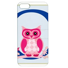 Alphabet Letter O With Owl Illustration Ideal For Teaching Kids Apple Iphone 5 Hardshell Case With Stand by Nexatart