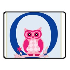 Alphabet Letter O With Owl Illustration Ideal For Teaching Kids Double Sided Fleece Blanket (small)  by Nexatart