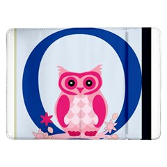 Alphabet Letter O With Owl Illustration Ideal For Teaching Kids Samsung Galaxy Tab Pro 12 2  Flip Case