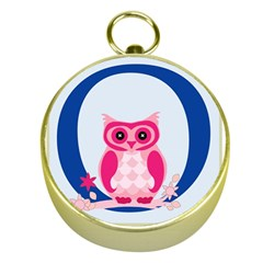 Alphabet Letter O With Owl Illustration Ideal For Teaching Kids Gold Compasses by Nexatart