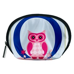 Alphabet Letter O With Owl Illustration Ideal For Teaching Kids Accessory Pouches (medium)  by Nexatart