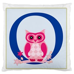 Alphabet Letter O With Owl Illustration Ideal For Teaching Kids Large Flano Cushion Case (one Side) by Nexatart