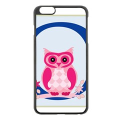 Alphabet Letter O With Owl Illustration Ideal For Teaching Kids Apple Iphone 6 Plus/6s Plus Black Enamel Case by Nexatart