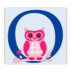 Alphabet Letter O With Owl Illustration Ideal For Teaching Kids Double Sided Flano Blanket (small)  by Nexatart