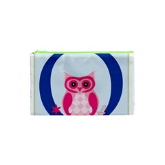 Alphabet Letter O With Owl Illustration Ideal For Teaching Kids Cosmetic Bag (xs)