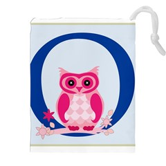 Alphabet Letter O With Owl Illustration Ideal For Teaching Kids Drawstring Pouches (xxl) by Nexatart