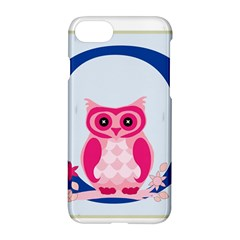 Alphabet Letter O With Owl Illustration Ideal For Teaching Kids Apple Iphone 7 Hardshell Case by Nexatart