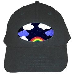 Rainbow Animation Black Cap by Nexatart