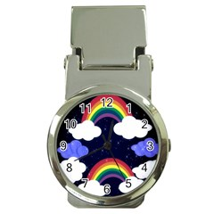 Rainbow Animation Money Clip Watches by Nexatart