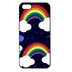 Rainbow Animation Apple Iphone 5 Seamless Case (black)