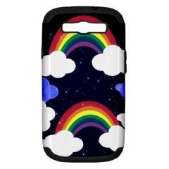 Rainbow Animation Samsung Galaxy S Iii Hardshell Case (pc+silicone) by Nexatart