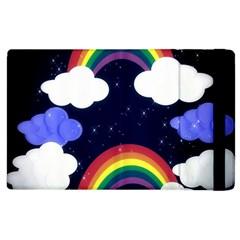 Rainbow Animation Apple Ipad 2 Flip Case