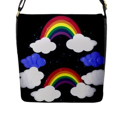 Rainbow Animation Flap Messenger Bag (l)  by Nexatart