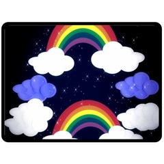 Rainbow Animation Double Sided Fleece Blanket (large)  by Nexatart