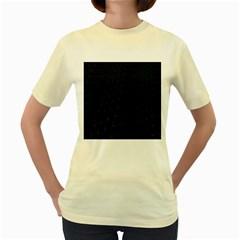 Abstract Clutter Women s Yellow T Shirt