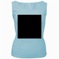 Abstract Clutter Women s Baby Blue Tank Top