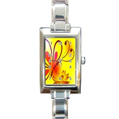 Butterfly Background Wallpaper Texture Rectangle Italian Charm Watch