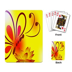 Butterfly Background Wallpaper Texture Playing Card by Nexatart