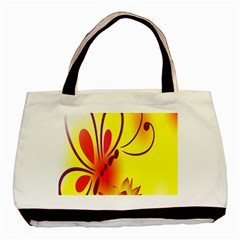 Butterfly Background Wallpaper Texture Basic Tote Bag by Nexatart