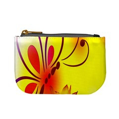 Butterfly Background Wallpaper Texture Mini Coin Purses by Nexatart
