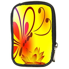Butterfly Background Wallpaper Texture Compact Camera Cases by Nexatart