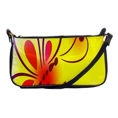 Butterfly Background Wallpaper Texture Shoulder Clutch Bags
