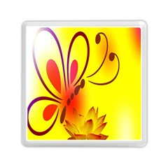 Butterfly Background Wallpaper Texture Memory Card Reader (square)