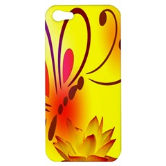 Butterfly Background Wallpaper Texture Apple Iphone 5 Hardshell Case by Nexatart