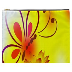 Butterfly Background Wallpaper Texture Cosmetic Bag (xxxl)  by Nexatart