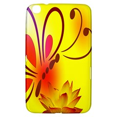 Butterfly Background Wallpaper Texture Samsung Galaxy Tab 3 (8 ) T3100 Hardshell Case
