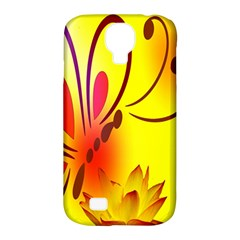 Butterfly Background Wallpaper Texture Samsung Galaxy S4 Classic Hardshell Case (pc+silicone)
