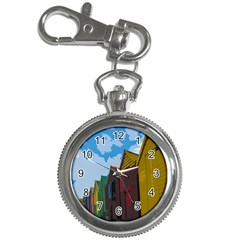 Brightly Colored Dressing Huts Key Chain Watches by Nexatart