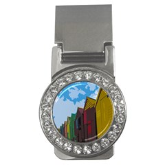 Brightly Colored Dressing Huts Money Clips (cz)