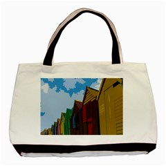 Brightly Colored Dressing Huts Basic Tote Bag by Nexatart