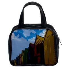 Brightly Colored Dressing Huts Classic Handbags (2 Sides)